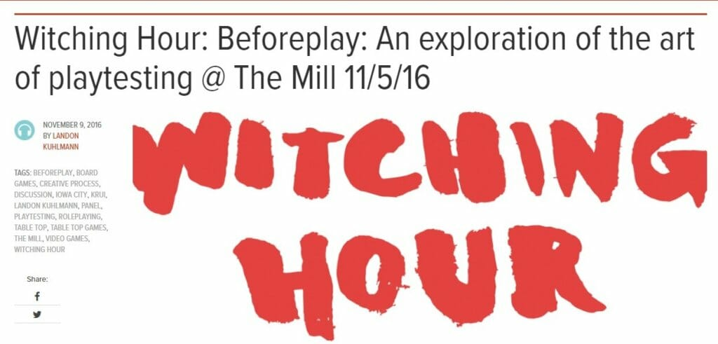 The Witching Hour November 9th, 2016